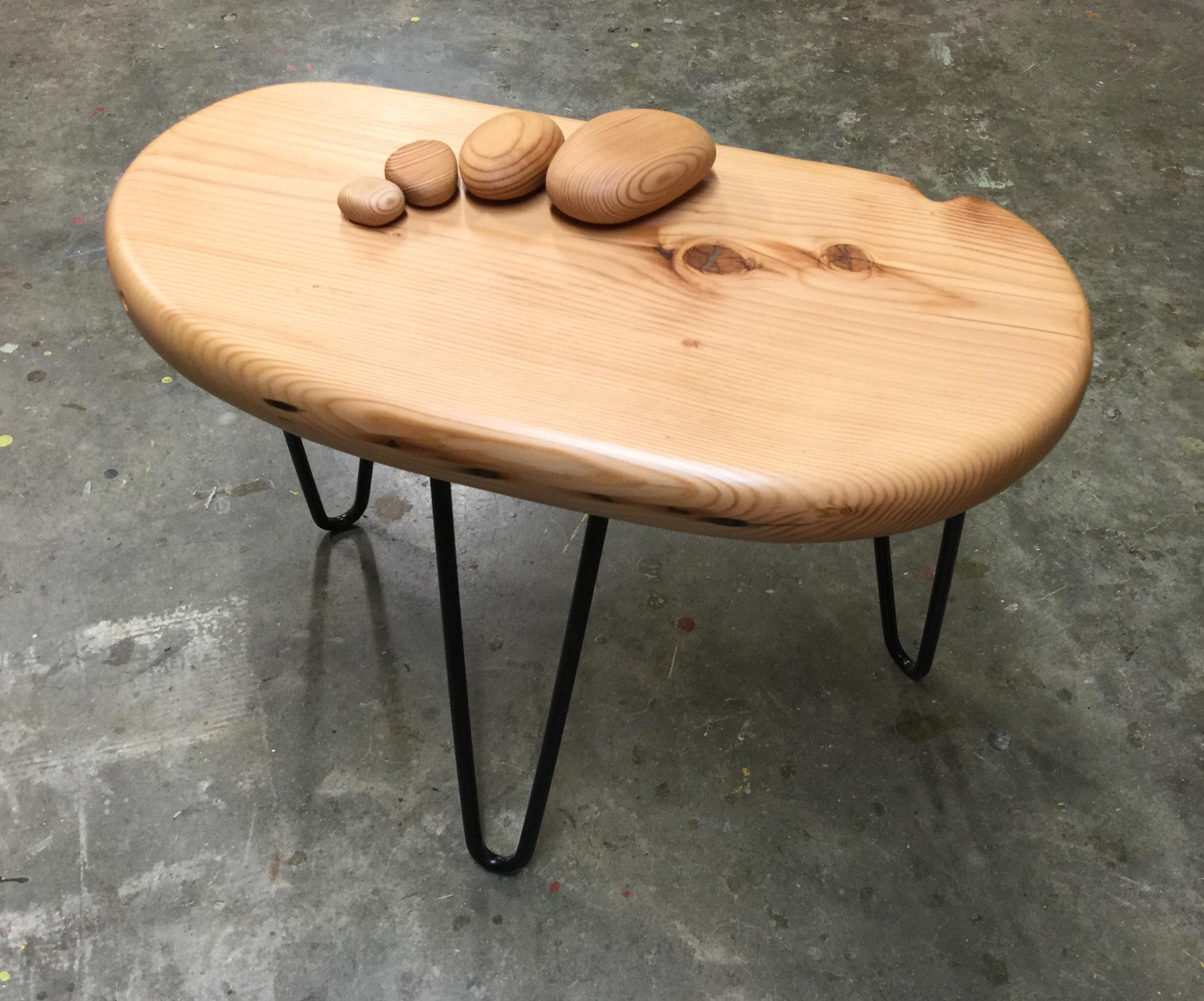 Genial Side Table With Four Rocks 24w X 12d X 18h $300